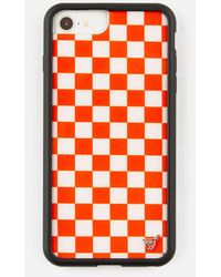 Wildflower Red Check Iphone 6+/7+/8+ Plus Case