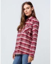 Burton - Grace Rose Womens Flannel Shirt - Lyst
