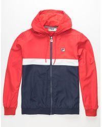 5f3be50be Ambrose Mens Windbreaker Jacket - Red