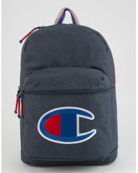 Champion - Supercize Navy Backpack - Lyst