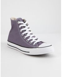 b8ae05ede3c997 Converse - Chuck Taylor All Star Moody Purple High Top Womens Shoes - Lyst
