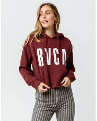 RVCA - Freshman Crop Womens Sweatshirt - Lyst