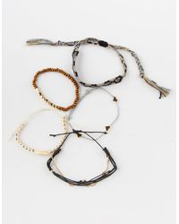 Full Tilt 5 Pack Shell & Heart Bracelets - Metallic