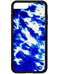 Wildflower Blue Tie Dye Iphone 6+/7+/8+ Plus Case