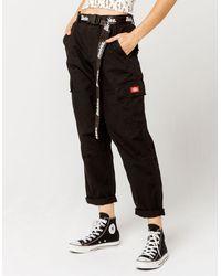 Dickies Belted Utility Black Cargo Pants