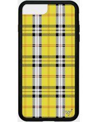 premium selection f87bb 8d548 Yellow Plaid Iphone 6+/7+/8+ Plus Case