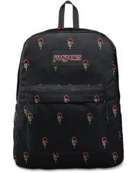 Jansport Superbreak Rose Icon Backpack - Black