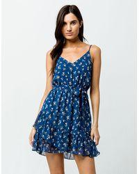 Soprano Ditsy Floral Dress - Blue