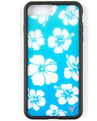 Wildflower Blue Hibiscus Iphone 6+/7+/8+ Case