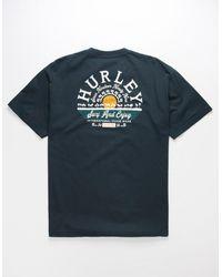 Hurley Baja Sun Mens T-shirt - Blue