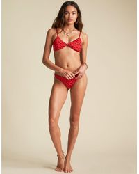 Billabong Sincerely Jules Rio Rain Bralette Bikini Top - Red