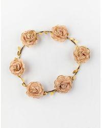Full Tilt Rose Flower Headband - Metallic