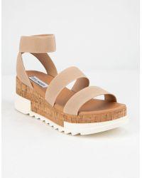 Steve Madden - Bandi Blush Flatform Sandals - Lyst