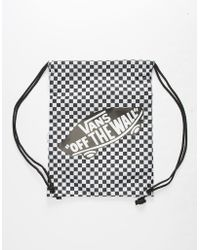d772163a81b3 Vans - Benched Checkerboard Black   White Cinch Sack - Lyst