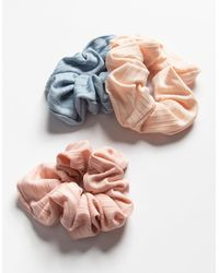 Full Tilt 3 Pack Ribbed Scrunchies - Multicolor
