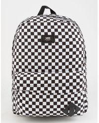 Vans - Old Skool Ii Black & White Checkerboard Backpack - Lyst