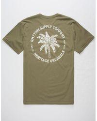 Rhythm | Desert Palm Mens T-Shirt | Lyst