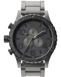 Nixon 51-30 Chrono Gunmetal Watch - Black