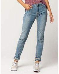 Almost Famous - Premium Cuffed Womens Skinny Jeans - Lyst
