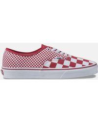 90a96fe31e9 Vans - Mix Checker Authentic Chili Pepper   True White Shoes - Lyst. Vans -  Comfycush Checker Old Skool ...