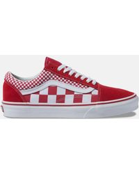 d0b41cd11a4 Lyst - Vans The Women s Classic Slip-on Checker Sidewall In Spice ...