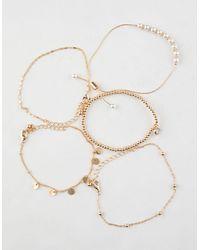 Full Tilt - 5 Pack Rhinestone/coin Bracelets - Lyst