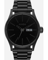Nixon Japanese Quartz Stainless Steel Strap, Silver, 23 Casual Watch (model: A356-1147-00) - Black