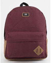 Vans - Old Skool Ii Burgundy Backpack - Lyst