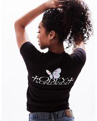 Obey Kyoto Butterfly Womens Tee - Black
