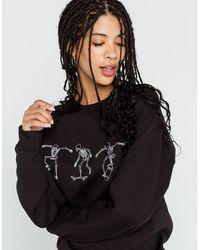 Full Tilt Skeleton Skate Womens Sweatshirt - Black