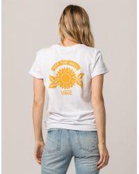 Vans - Sunflower Rocker Womens Tee - Lyst