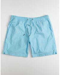 Quiksilver Taxer Mens Light Blue Volley Shorts