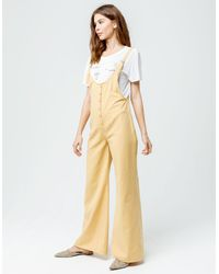 Amuse Society Betina Womens Jumpsuit - Yellow