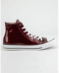36648ab687c1 Converse - Chuck Taylor All Star Wonderworld Dark Burgundy High Top Womens  Shoes - Lyst