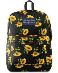 Jansport Superbreak Sunflower Backpack - Black