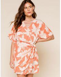 Amuse Society Mala Wrap Dress - Pink