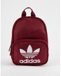 ad8ed2804dfa Lyst - adidas Originals Classic Backpack In Burgundy With Rose Gold ...