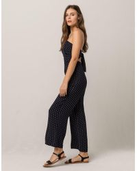 ee918979299a Mimi Chica - Medallion Tie Back Womens Tube Jumpsuit - Lyst