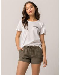 Celebrity Pink - Twill Womens Shorts - Lyst