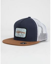 new list new release good texture Salty Crew Cotton Rigged Mens Trucker Hat in Navy (Blue) for Men ...