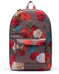 Herschel Supply Co. Heritage Vintage Floral Backpack - Red