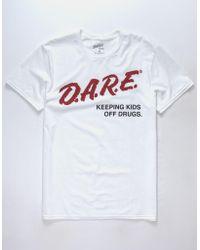 Changes - D.a.r.e. White Mens T-shirt - Lyst