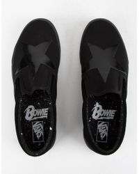 58b6e7764729 Vans - X David Bowie Blackstar Classic Slip-on Shoes - Lyst