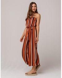 Soprano - Stripe Crop Womens Tube Jumpsuit - Lyst