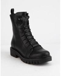 f6d17b62f109 Wild Diva - Jacky Womens Combat Boots - Lyst
