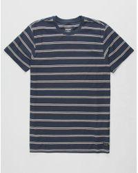 bd5f373615f8 Lyst - Billabong Die Cut Stripe Short Sleeve Crew Tee in Blue for Men