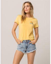 Volcom - Stoney Womens Denim Shorts - Lyst
