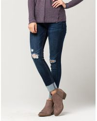 Almost Famous - Premium High Cuff Womens Skinny Jeans - Lyst
