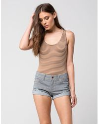 Others Follow - Striped Cuff Womens Shorts - Lyst