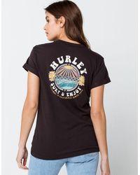 Hurley Surf & Enjoy Womens Tee - Black